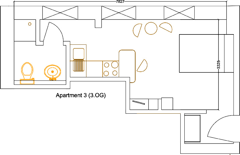 Grundriss Apartment 3