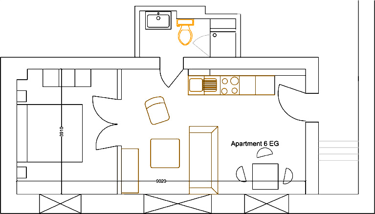 Grundriss Apartment 6